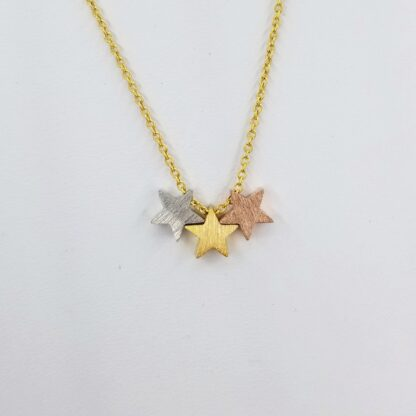 3 Star Gold Necklace