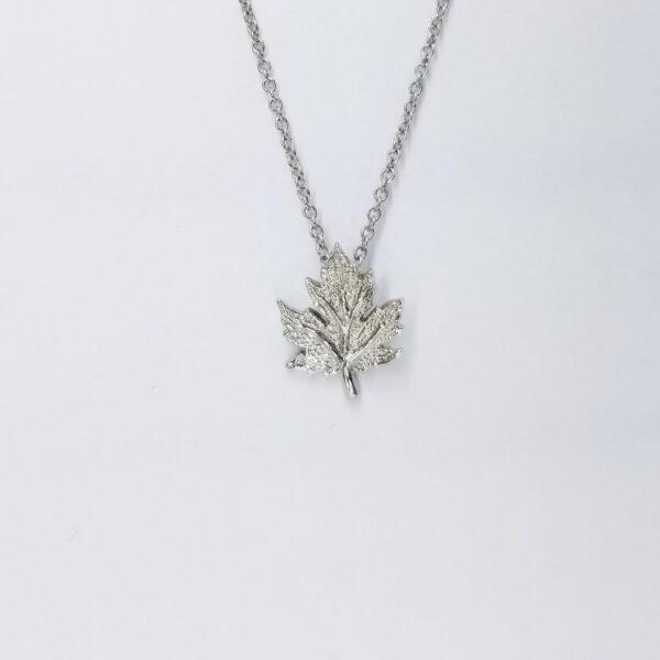 Oak Leaf Silver Necklace