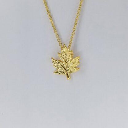 Oak Leaf Gold Necklace