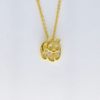 Gold Panda Necklace
