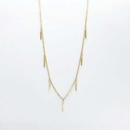Gold Rectangles Necklace