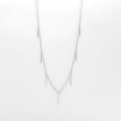 Silver Rectangles Square Necklace