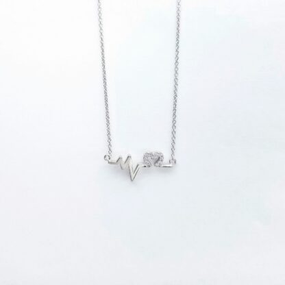 Silver Heart Beat Necklace