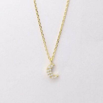 Gold Moon Diamond Necklace