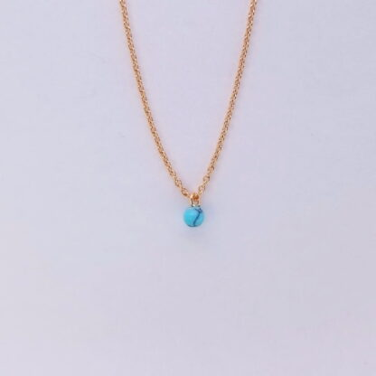 Pink Gold Blue Marble Necklace