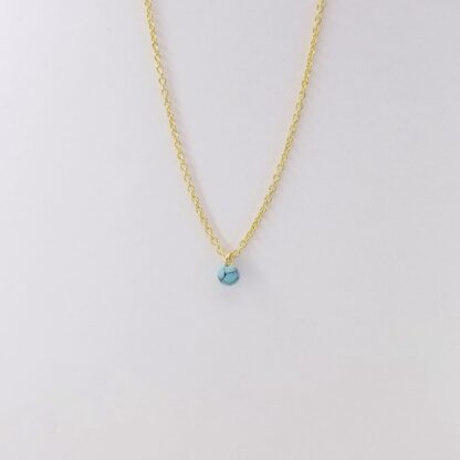 Collier en marbre bleu or