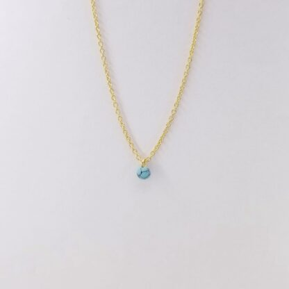 Gold blue marble necklace