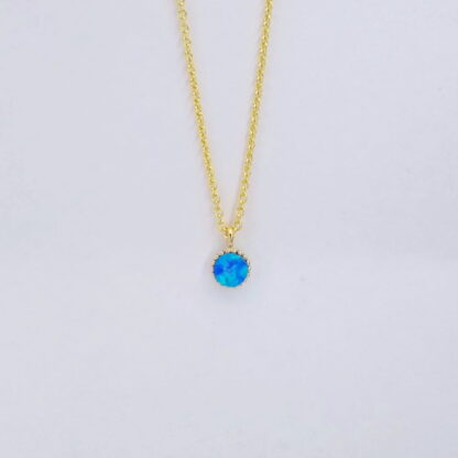 Gold Turquoise Circle Necklace
