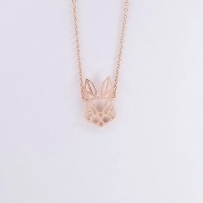 Pink Gold Bunny Face