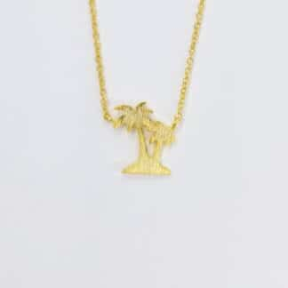 Gold Palm trees Necklace