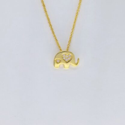 Gold Elepehant Necklace