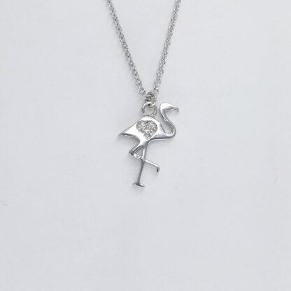 Silver Flamingo Necklace