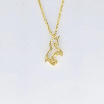 Gold Unicorn Necklace