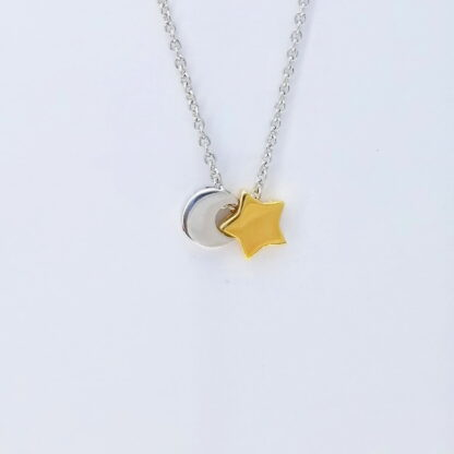 Silver Gold star Necklace