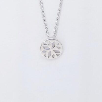 Silver Geometric flower Necklace