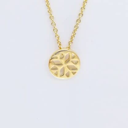 Gold Geometric flower Necklace