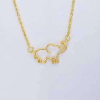 Gold Elephant Necklace